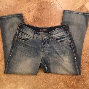 Silver SUKI Mid Capri Jeans